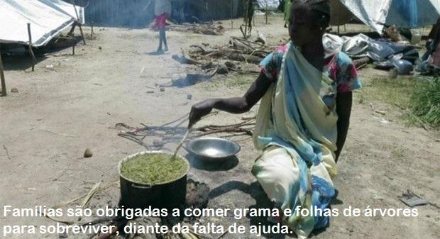 FOME FAZ CRIANÇAS SE ALIMENTAREM DE GRAMA COZIDA EM PAÍS TOMADO PELA GUERRA CIVIL