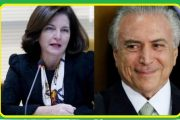 AO LADO DO MARGINAL MICHEL TEMER, RAQUEL DODGE TOMA POSSE NA PGR